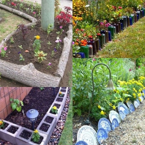Ten Amazing Garden Borders Made From Recycled Things
