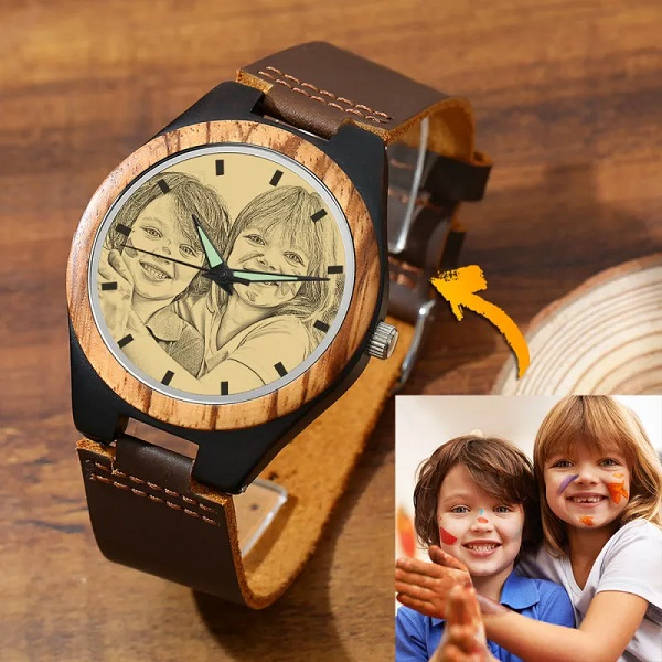 Personalized Wristwatch for Him: