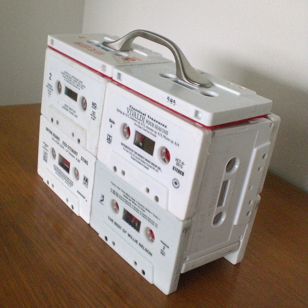 A Jewellery Box Made From Cassette Tapes