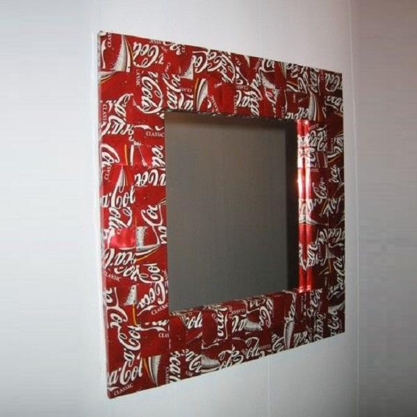 Coke-Cola Can Mirror Frame