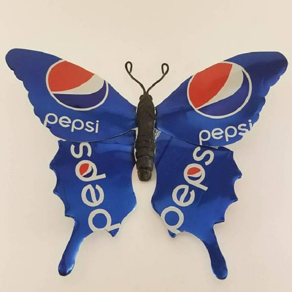 Pepsi Can Butterfly