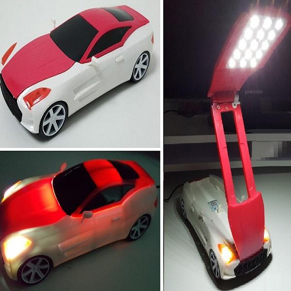 Transformer Bedside Posable Lamp