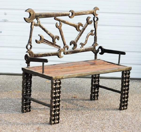 Spanner Turned into a Bench
