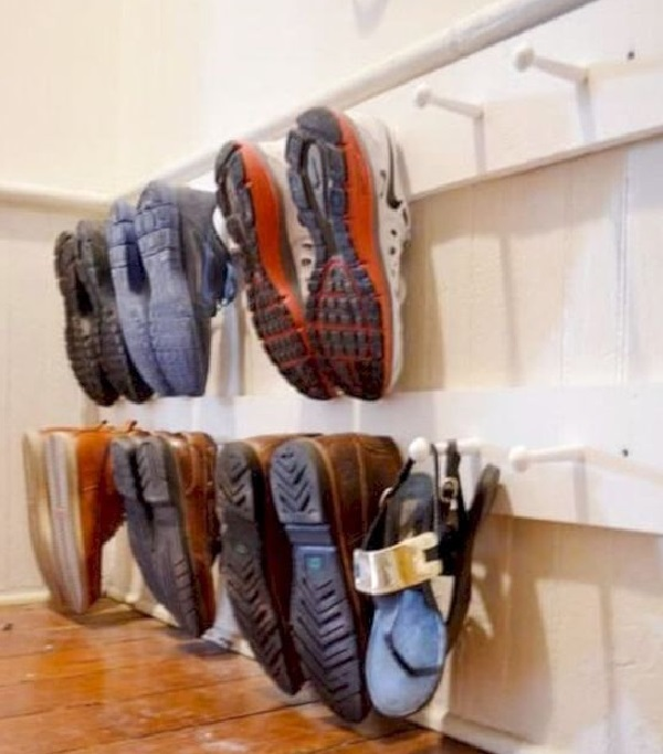 Coat Hangers Turned into a Shoe Holder (Shoe Organiser)