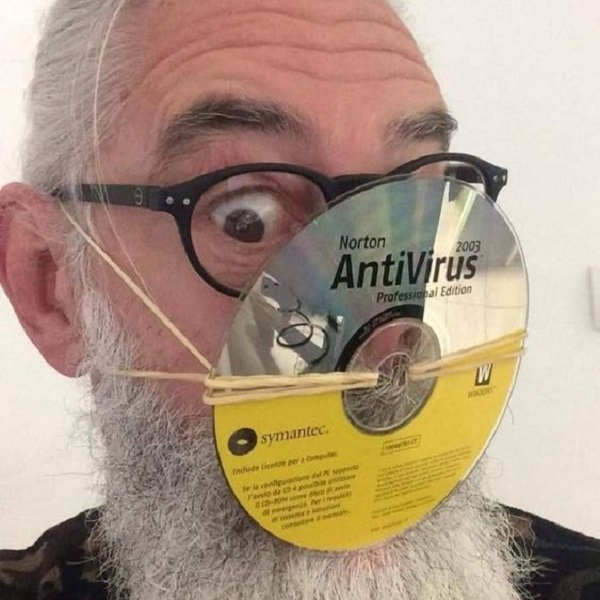 A Face Mask Made From a CD