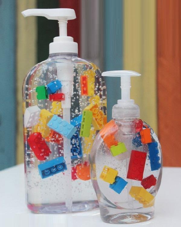 The Lego Sanitizer Dispenser
