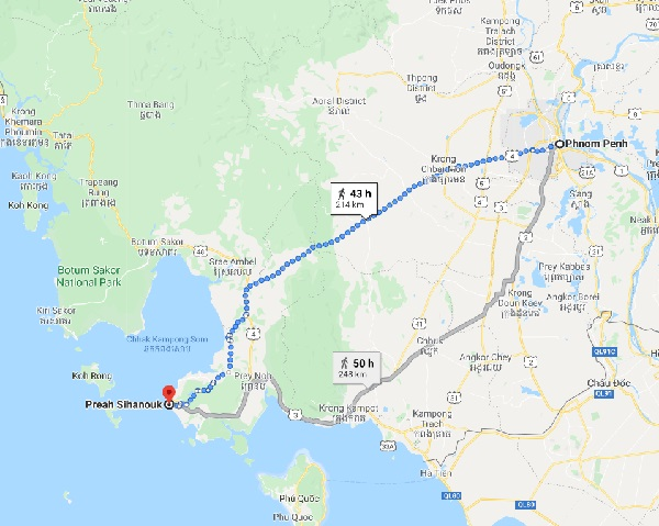 Phnom Penh to Sihanoukville - Best Backpacking Routes in Thailand