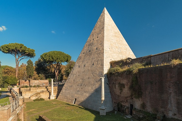 The Pyramid of Caius Cestius