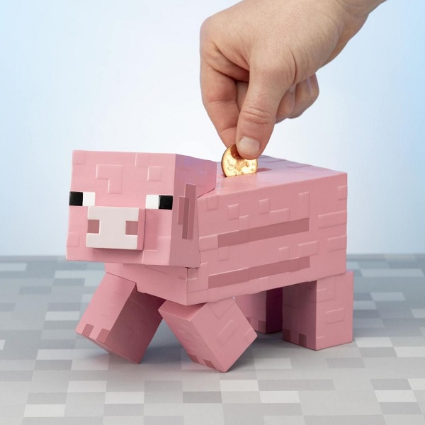 Minecraft Pig Money Box