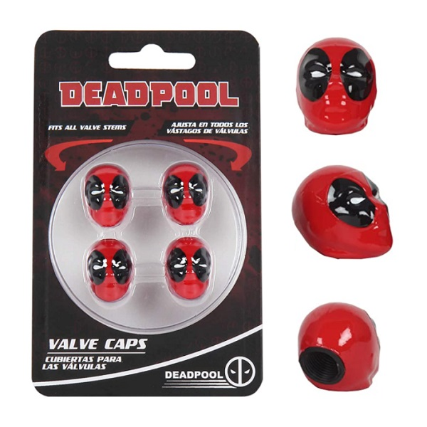 Deadpool Tyre Valve Caps