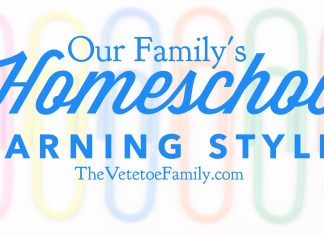 Our Family's Homeschool Learning Styles