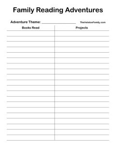 Reading Logs for Individuals and Families