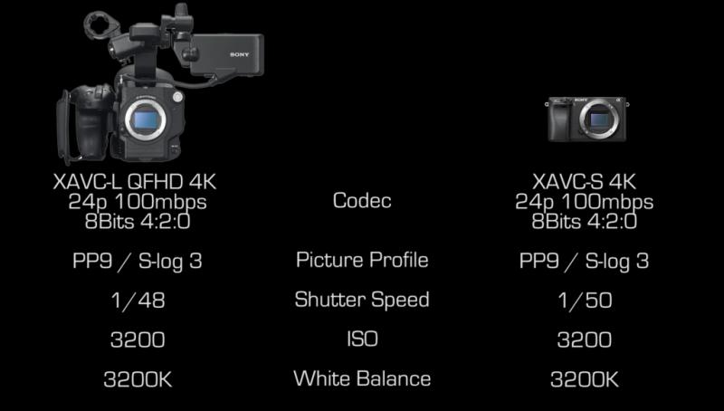 sony a6300 vs sony f5