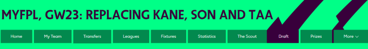 Kane Son and TAA Replacements 1024x138 - MyFPL: GW23: Alexander-Arnold, Son and Kane Replacements