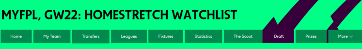 Walkoff Watchlist For FPL 1024x138 - MyFPL, GW22: Watchlist For The Homestretch of FPL