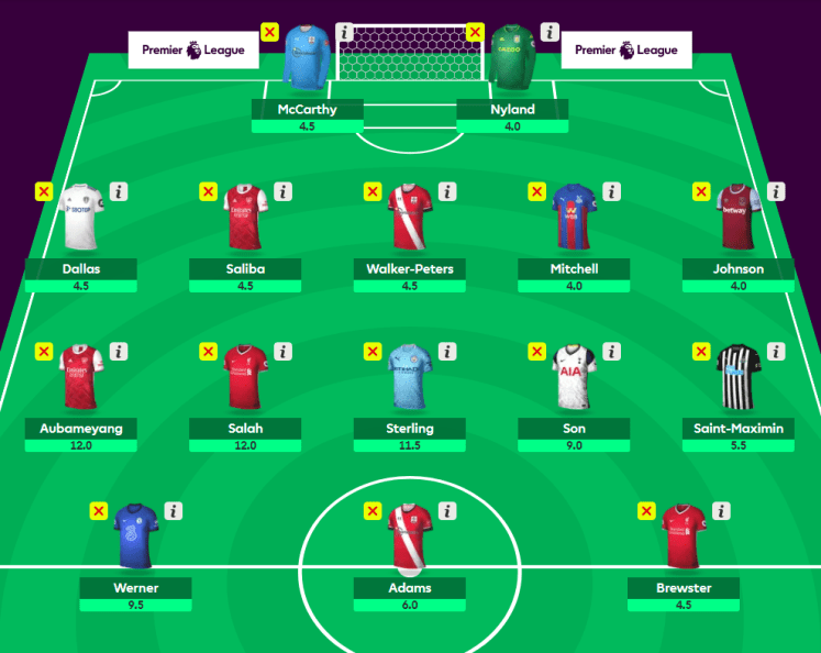 The Kevin No Bench Super Midfielders Squad v4 - The 2020/21 Fantasy Premier League Guide