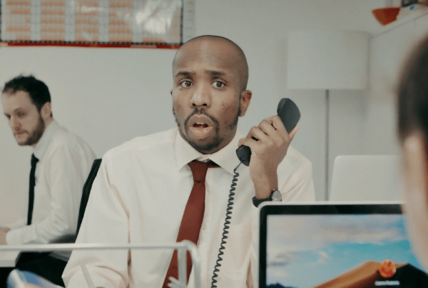 """""""Insecurity Questions"""" - Short Film Makes Fun Of Boring Bank Phone Calls image of man"""