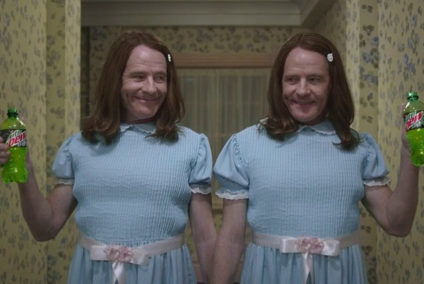 """Bryan Cranston & Mountain Dew Re-Create """"The Shining"""" In This Superbowl Ad image of Mountain Dew"""