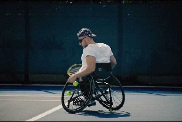 Wheelchair Tennis Pro Dylan Alcott Relives His Journey Through Sport With Nike image of Dylan Alcott
