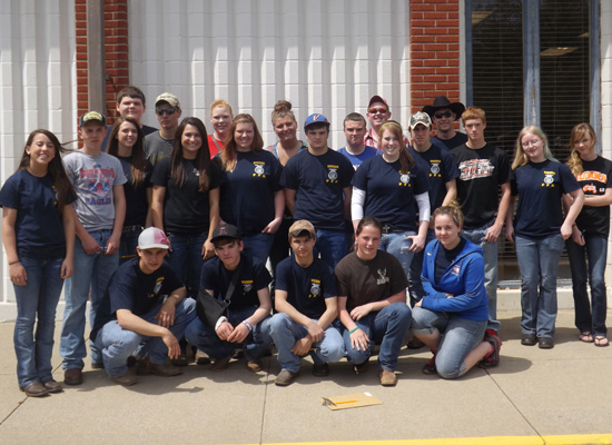 Pictured: (Back Row) Black Jackson, Dallas Bent, McKenzie Mattox, Emily VanAusdoll, Austin Goines, Andrew Rockwell, Parker Again, (Middle Row) Katie White, Garrett Mott, Maria Hill, Maranda Chance, Allison Browning, Tylour Daubert, Amanda Miles, Dusty McCuan, Blaine Moake, Brianna Blankenship, Mariah Nesler, (Front Row) Dylan Wisocki, Tucker Francis, Tyler Brinkley, Tayler Chance, Nicole West.