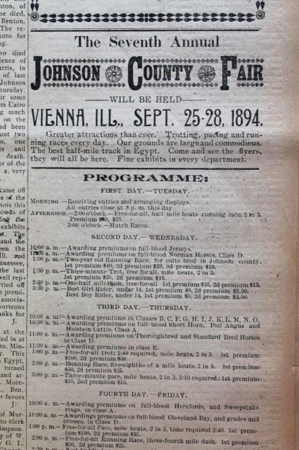 1894 Johson County Fair program