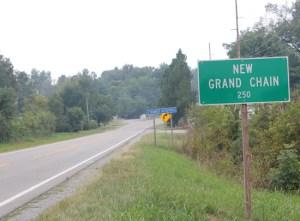 Village limit sign