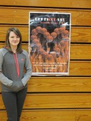 A poster design competition was held in Mrs. Clayton's Information Processing Class. Pictured is the winner, Sammy Gray, who is a Junior at VHS.