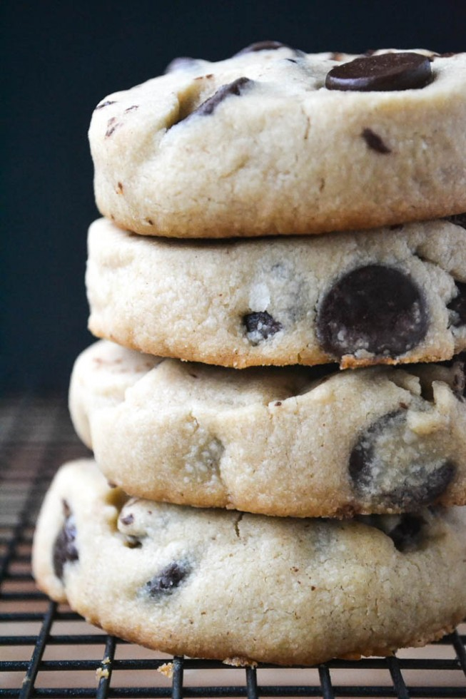 Peanut Butter Chocolate Chip Shortbread Cookies The View From