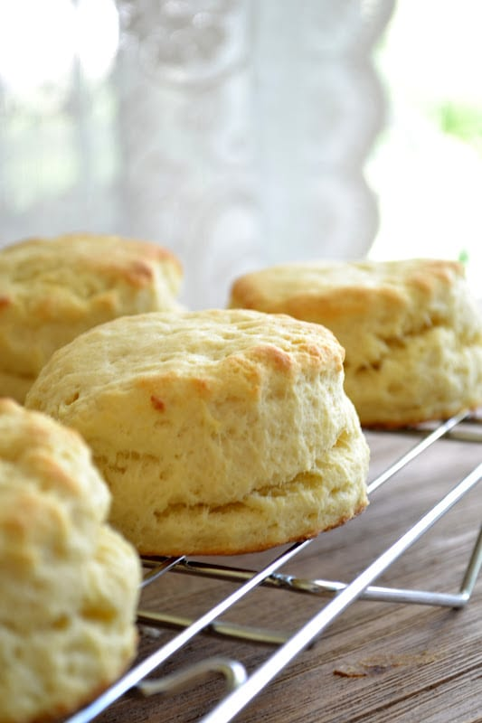 Down Home Sweet Potato Biscuits with Country Gravy ~ these tender biscuits are made impossibly light and fluffy with sweet potato, and they make the perfect base for a classic Southern country gravy!