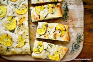 Easy Meyer Lemon and Rosemary Focaccia Bread