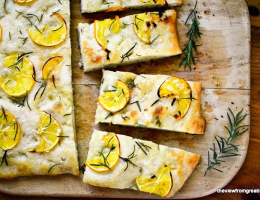 Easy Meyer Lemon and Rosemary Focaccia Bread