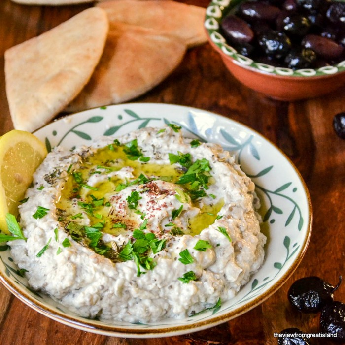 Baba Ganoush is a creamy Middle Eastern appetizer made from roasted eggplant