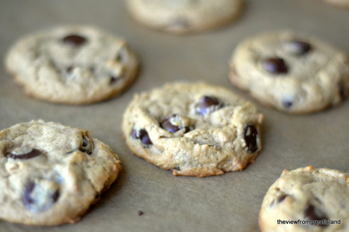 Flourless Peanut Butter Chocolate Chip Cookies, Gluten Free | The View from Great Island 4