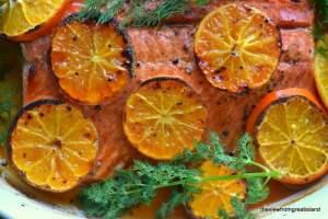 odka and Clementine Glazed Salmon 3