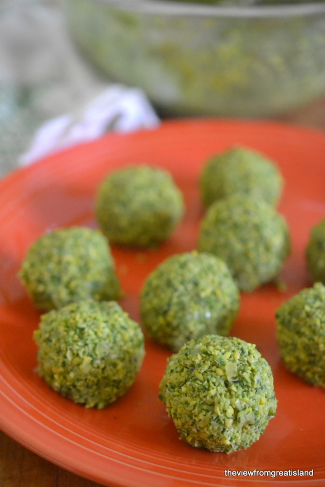 A plate of The Best Falafel ready to be fried