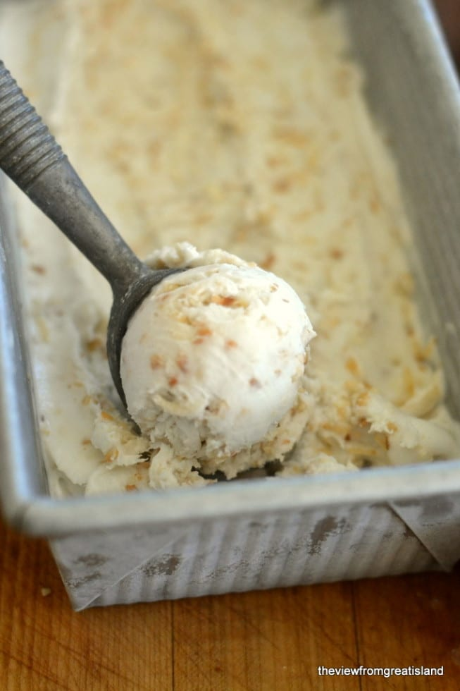 Creamy and delicious Vegan Toasted Coconut Ice Cream