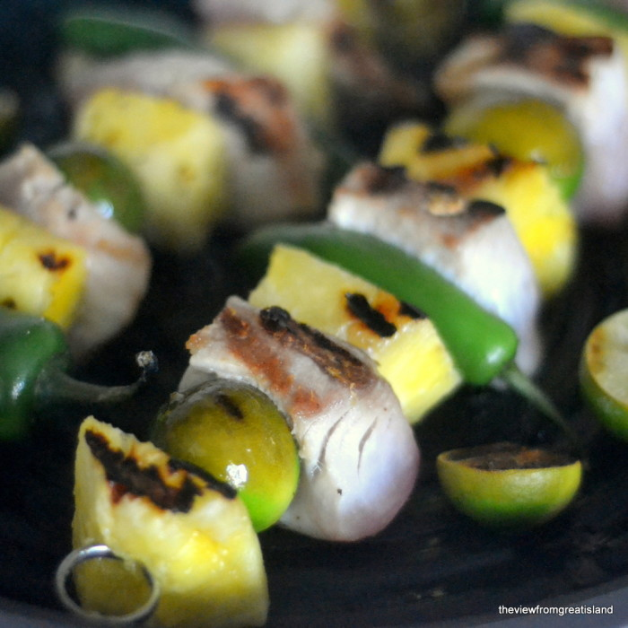 Mahi Mahi Skewers with Jalapeno, Key Lime, and Pineapple 6