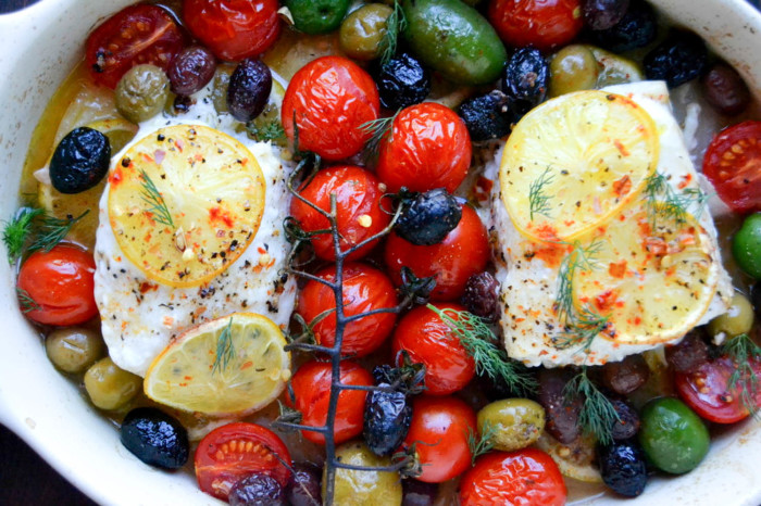 Simple Greek Style Baked Fish