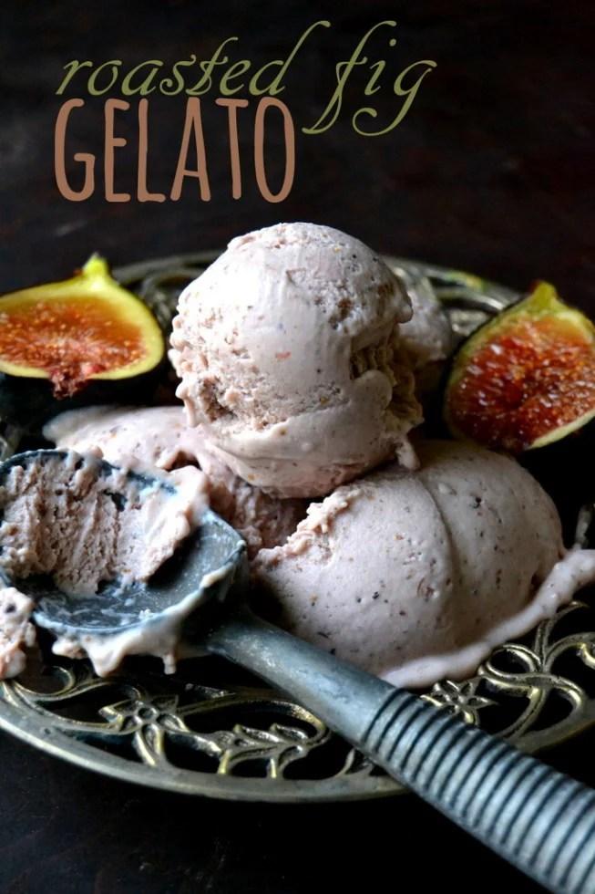 Roasted Fig Gelato