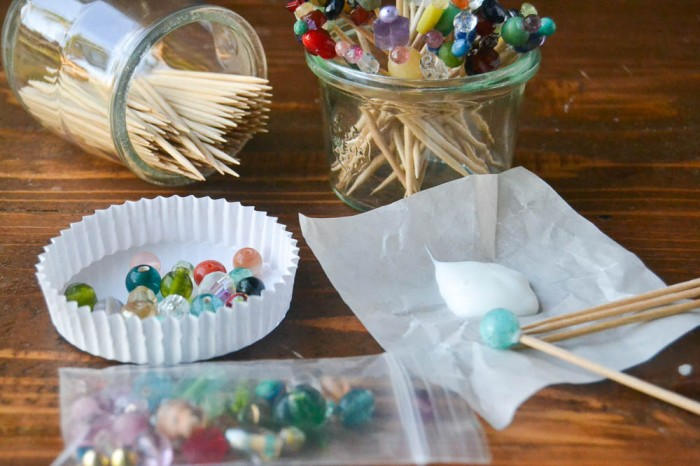 How to make beaded cocktail picks for your next party!