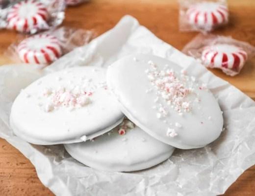 white chocolate thin mints