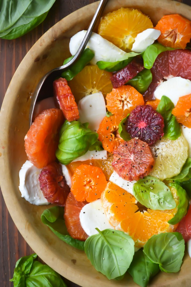 citrus caprese salad is the perfect winter variation of a summer classic!