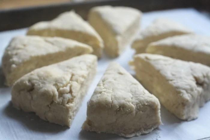 cardamom and vanilla scones ready to bake