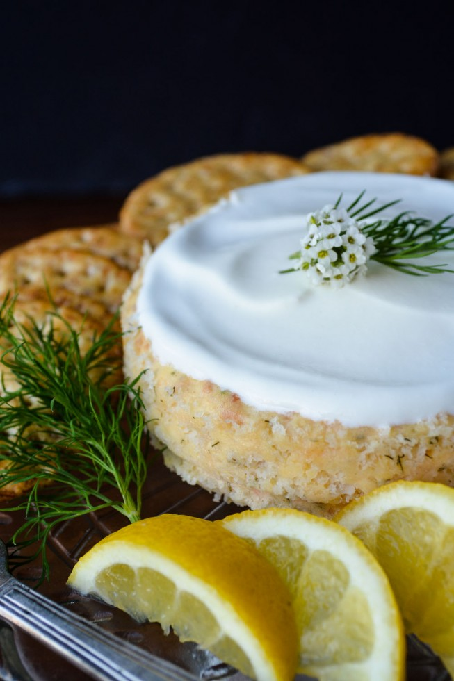 savory smoked salmon cheesecake
