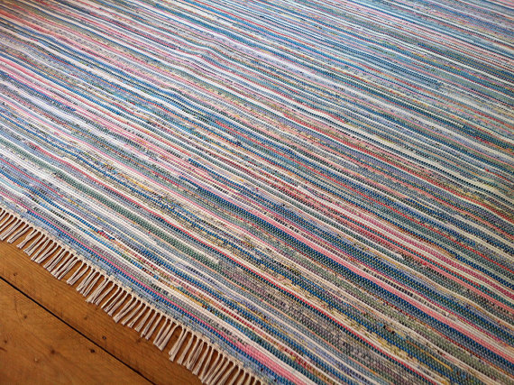 large Vermont Rug Farm rag rug