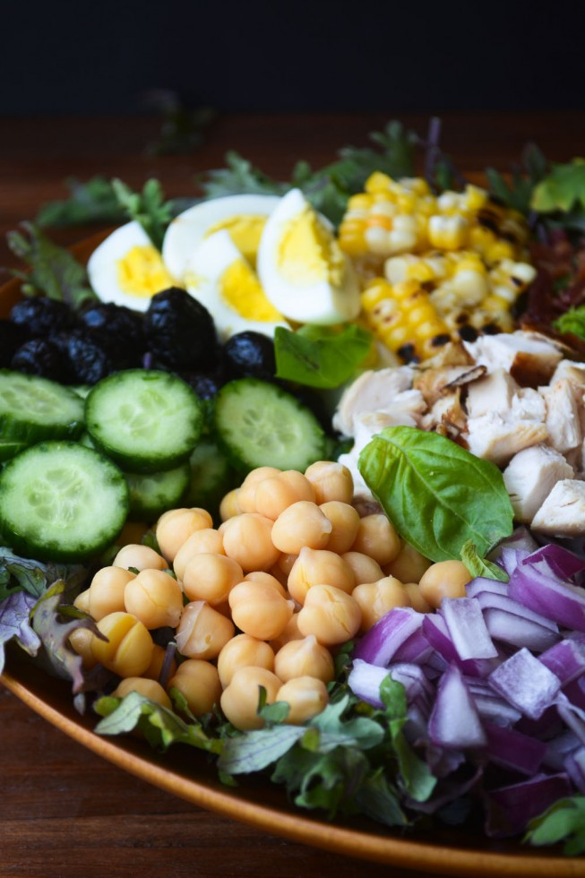 coloirful chopped salad