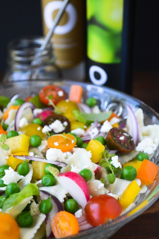 pasta salad with O Oil and Vinegar dressing