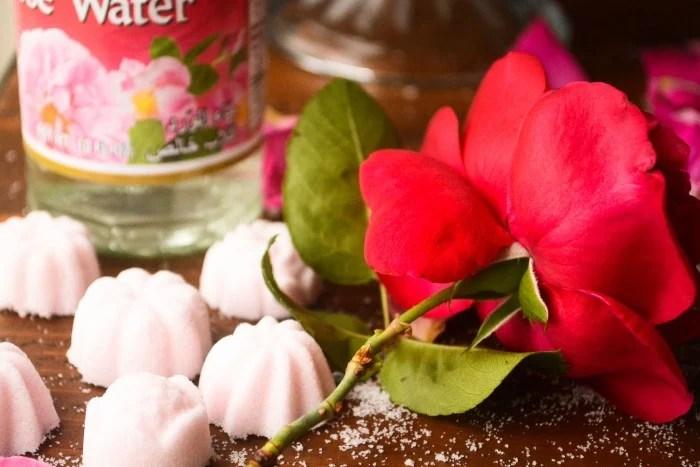 rose flavored sugar cubes