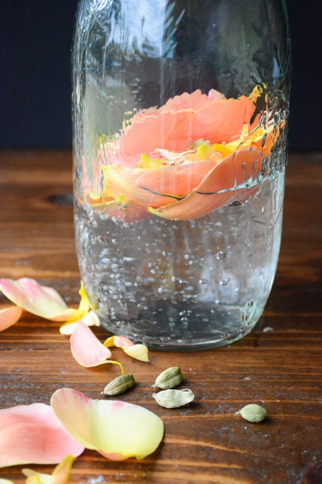 cardamom rose infused water