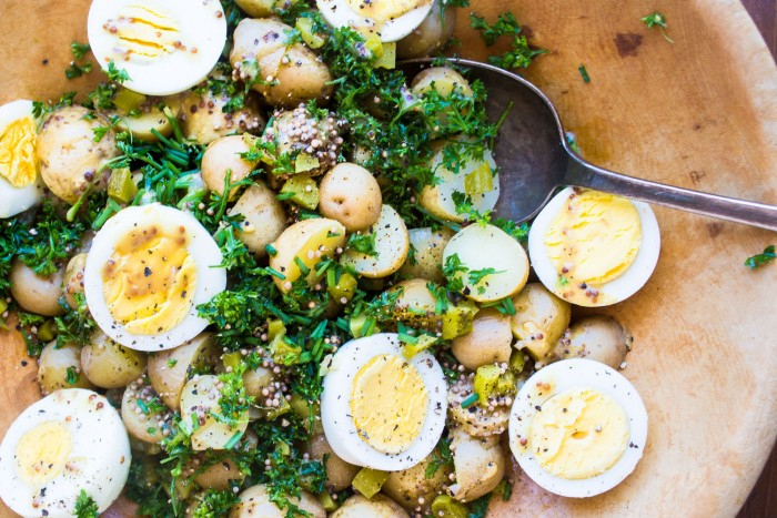 New Potato and Egg Salad is the perfect side for so many summer meals.